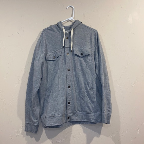 Men's Button Up Sweatshirt Jacket
